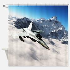 F-18 Hornet Shower Curtain
