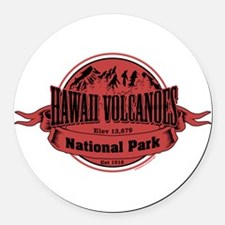 hawaii volcanoes 2 Round Car Magnet