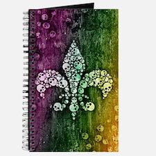 Colorful Skull Fleur De Lis Journal