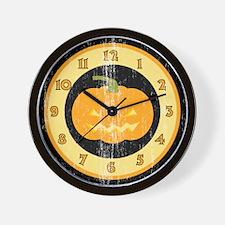 Retro Jack O Lantern Wall Clock