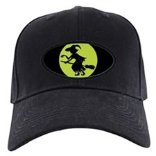 Retro Green Witch Silhouette Baseball Hat