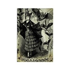 Victorian Halloween Bat Collage Rectangle Magnet