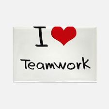I love Teamwork Rectangle Magnet