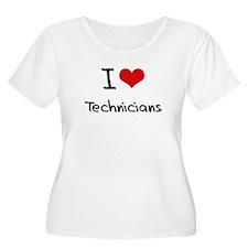 I love Technicians Plus Size T-Shirt