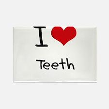 I love Teeth Rectangle Magnet