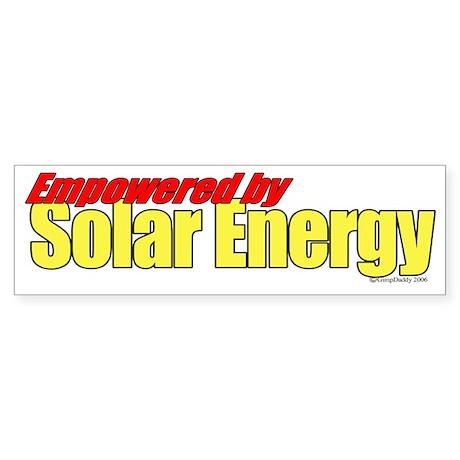 Empowered by Solar Energy Bumper Sticker