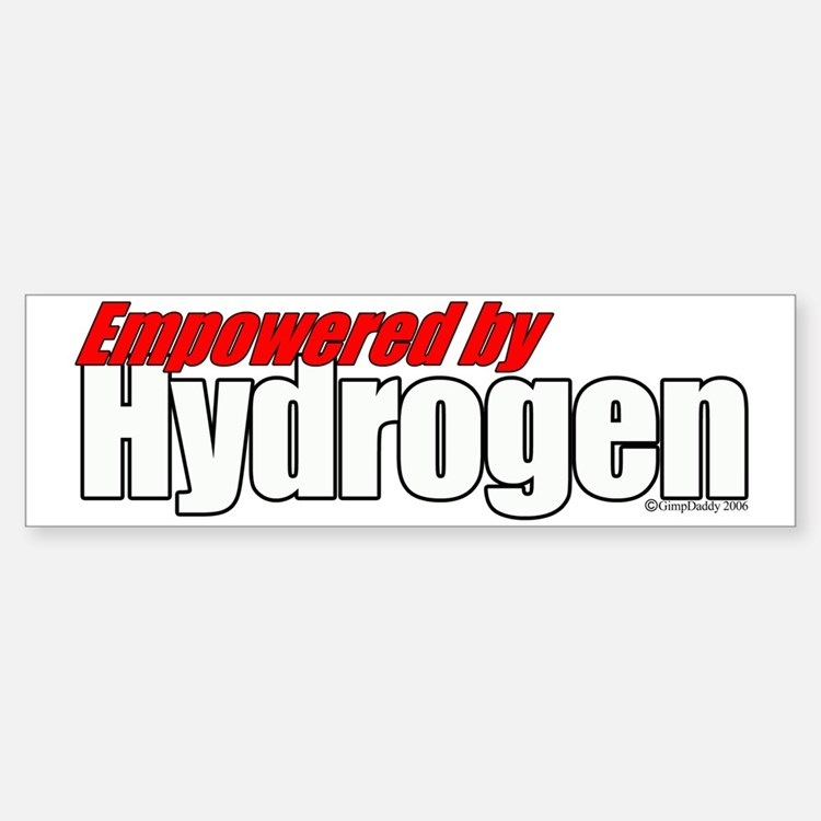 Empowered by Hydrogen Bumper Bumper Bumper Sticker