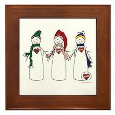 """""""Snowmen"""" Framed Tile"""