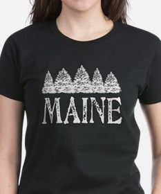 Maine Winter Evergreens T-Shirt