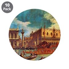 "Canaletto: Bucentaurs Return 3.5"" Button (10 pack)"
