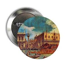 """Canaletto: Bucentaurs Return 2.25"""" Button"""