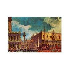 Canaletto: Bucentaurs Return Rectangle Magnet