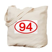 Number 94 Oval Tote Bag