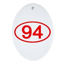 Number 94 Oval Oval Ornament
