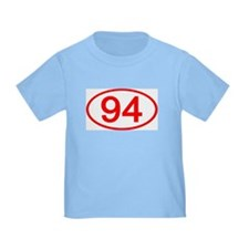 Number 94 Oval T