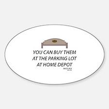 Bench Masuka Quote Sticker (Oval)