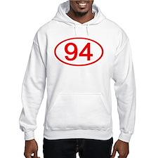Number 94 Oval Hoodie