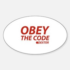 Obey The Code Dexter Decal