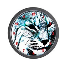 Abstract Bobcat Wall Clock