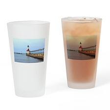 Michigan City Lighthouse Drinking Glass