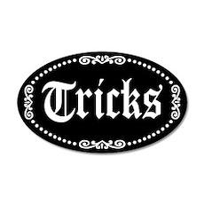 Halloween Tricks 20x12 Oval Wall Decal