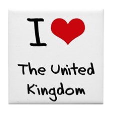 I love The United Kingdom Tile Coaster