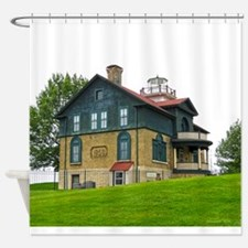 Old Michigan City Lighthouse Shower Curtain