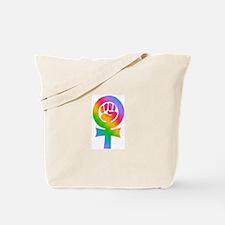 Feminist Pride- Rainbow Tote Bag