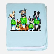 Adopt Shelter Dogs baby blanket