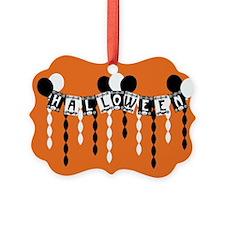 Retro Halloween Banner Ornament