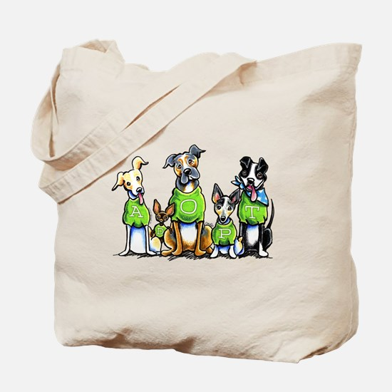 Adopt Shelter Dogs Tote Bag