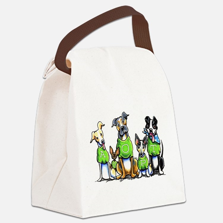 Adopt Shelter Dogs Canvas Lunch Bag