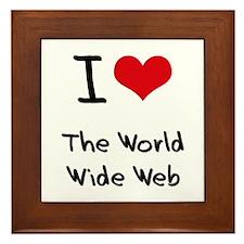 I love The World Wide Web Framed Tile