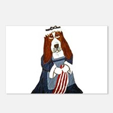 Basset Hound Betsy Ross.. Postcards (Package of 8)