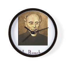 J.L. Runeberg w text Wall Clock