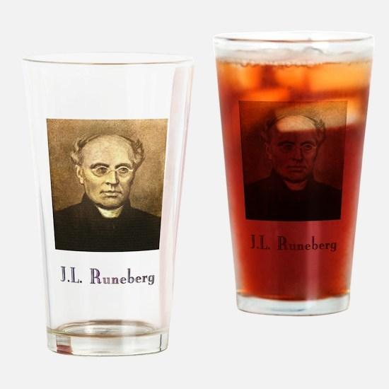 J.L. Runeberg w text Drinking Glass