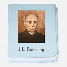 J.L. Runeberg w text baby blanket