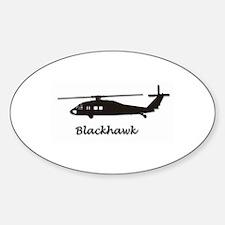 UH-60 Blackhawk Sticker (Oval)
