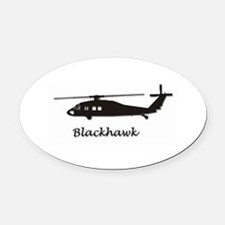UH-60 Blackhawk Oval Car Magnet