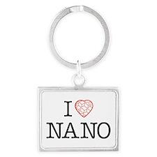 Cute Nano research Landscape Keychain