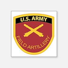 "Cute Army artillery Square Sticker 3"" x 3"""