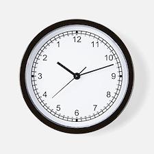 Wall Clock-Backwards Numbers