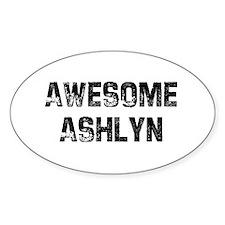 Awesome Ashlyn Oval Decal