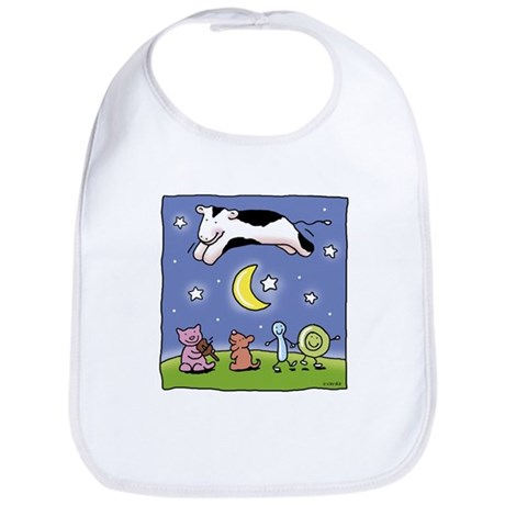 cow jumping over the moon Bib