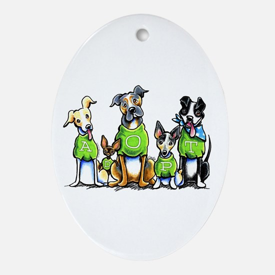 Adopt Shelter Dogs Ornament (Oval)