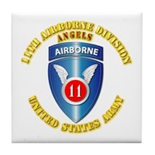 Army - 11th Airborne Division Tile Coaster