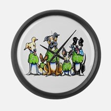 Adopt Shelter Dogs Large Wall Clock