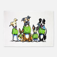 Adopt Shelter Dogs 5'x7'Area Rug