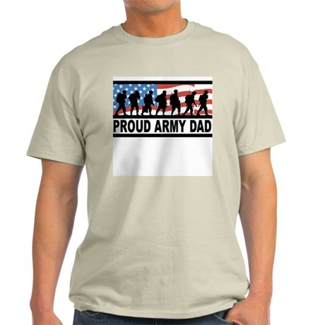 Proud Army Dad Ash Grey T-Shirt