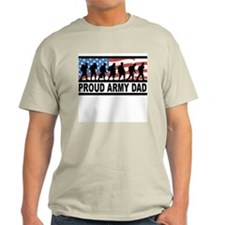 Proud Army Dad Ash Grey T-Shirt